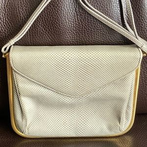 Judith Leiber Vintage Lizard Skin Shoulder Bag